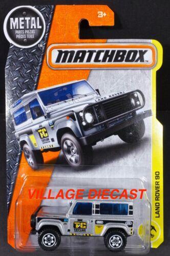 MOC TAYLOR CONSTRUCTION 2017 Matchbox #48 Land Rover 90 SILVER
