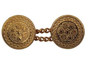 Cadenas de oro botones de metal ojales botones 1 unid.
