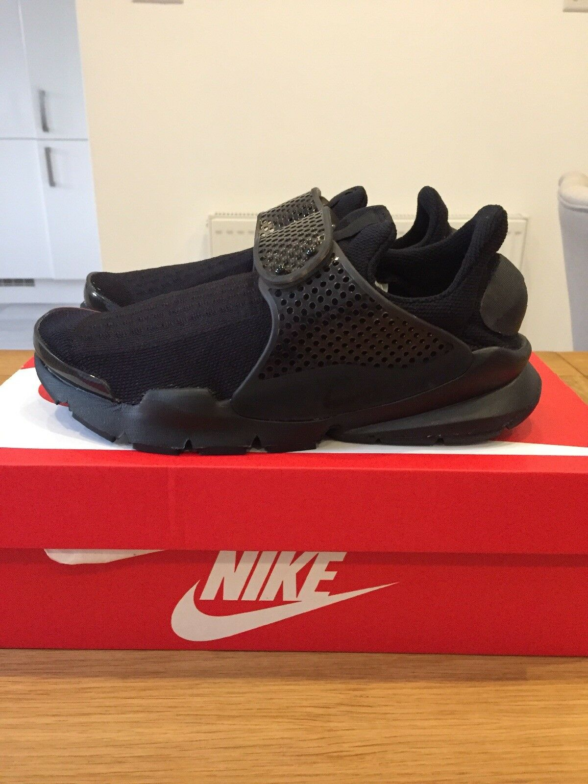 Genuine Nike Sock Dart KJCRD UK 5.5 Black Black Volt 819686-001 BNIB