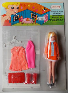 Vintage-Mammy-Topper-Dawn-Cilly-Clone-Doll-6-1-8in-Doll-House-70er-Boxed
