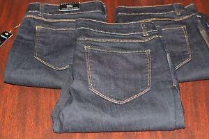 Women-Jeans-Pants-Capri-Crop-Attention-Skinny-Dark-Wash-Denim-Size-4-6-8-12