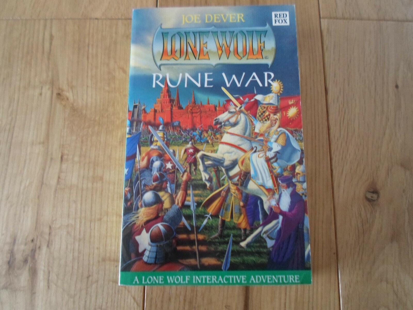 RARE Lone Wolf Joe Dever Rune War bok 24 1st Edition (UNREAD  NM)