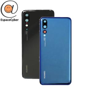 Coque-arriere-Cache-batterie-Huawei-P20-Pro-Lentilles-Camera-CLT-L29-Noir-Bleu