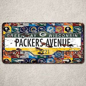 Lp0065 Green Bay Packers Auto Car License Plate Sign Rust