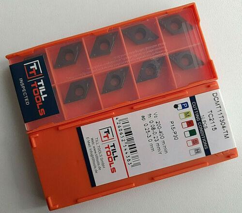 Wendeplatten 10 x TILL DCMT070204//08 DCMT11T304//08 Wendeschneidplatten Inserts
