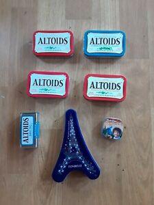 Lot-of-7-Empty-Mint-Tins-Altoids-Bob-Ross-Etc