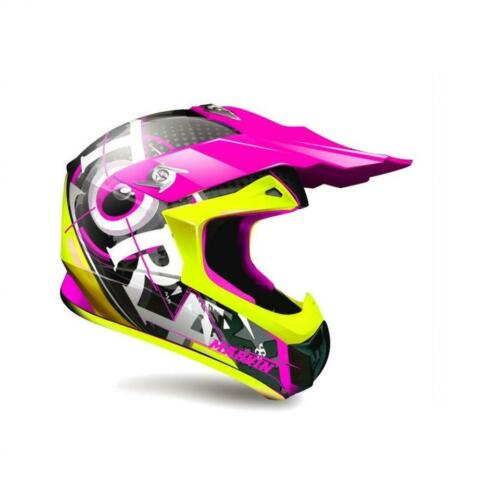 Casque de moto cross enduro Torx Marvin 3 Eyes Neon rose fuchsia Taille L Neuf