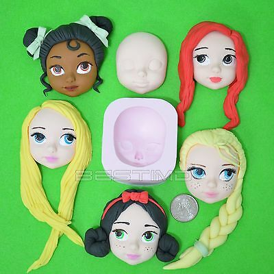 Doll Face Silicone Clay Moulds Fondant Sugarcraft Cake Decoration Molds