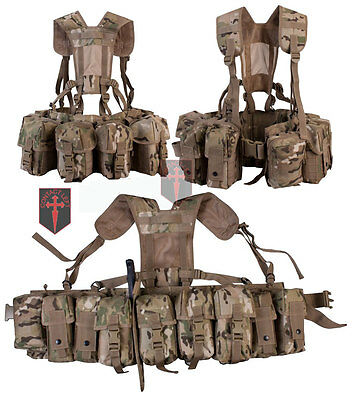 Special Forces Molle Airborne WEBBING Crye MULTICAM MTP ( Infantry Commando