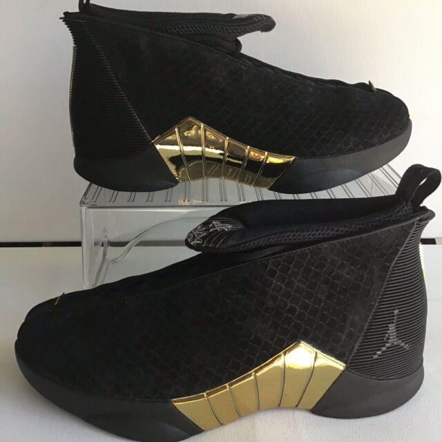85e914155a21 2018 Air Jordan 15 Retro Doernbecher Black Gold Bv7107017 Size 9 L10 ...