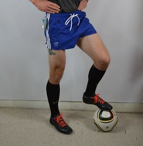 Vintage New 80s Adidas Mens Small 2 Nylon Trefoil Soccer Shorts