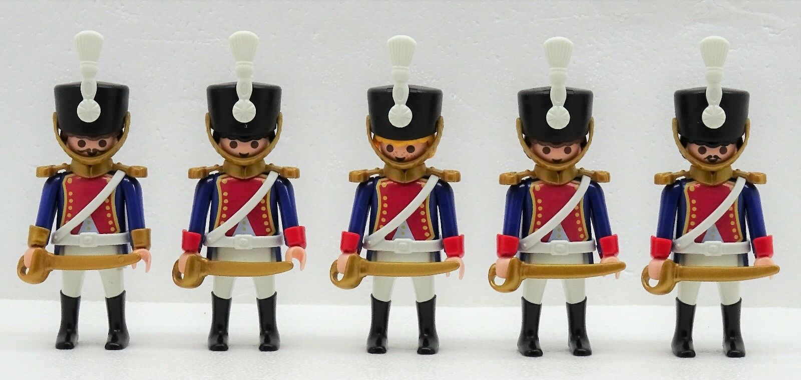 4 x Frenchman Frenchman Frenchman Husar + Officer Playmobil to Napoleon Guard Hussard Vs 103275