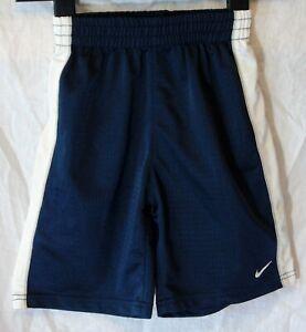 Boys-Nike-Dark-Blue-Sheen-Elasticated-Waist-Football-Sport-Shorts-Age-6-Years
