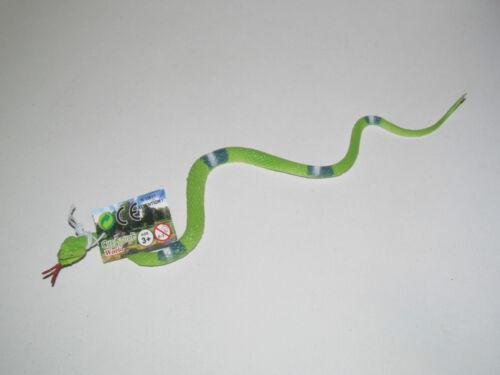 Jouet Plastique Serpent Factice 34 cm Snake Toy 7 Colori au choix