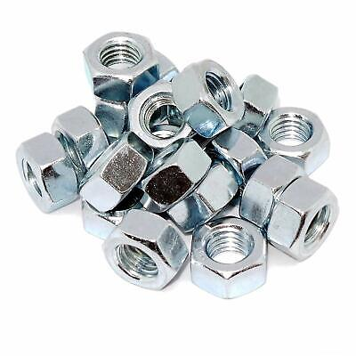 M22 22mm Hexagon Hex Full Nuts Zinc Plated BZP Fixing Job lot DIN 934 UK SELLER