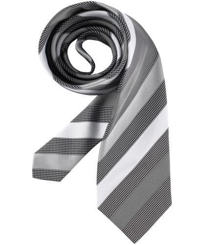 6900 Greiff Corporate Wear Herren Krawatte Silbergrau gestreift Modellnummer