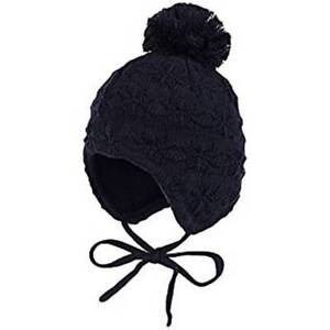 Maximo Baby Boy Knitted Winter Hat Navy Blue Covers Ears With ... a47c85217cb8