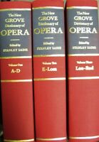 The Grove Dictionary Of Opera Set (1992, Hardcover) Volume 1,2,3 But Not 4