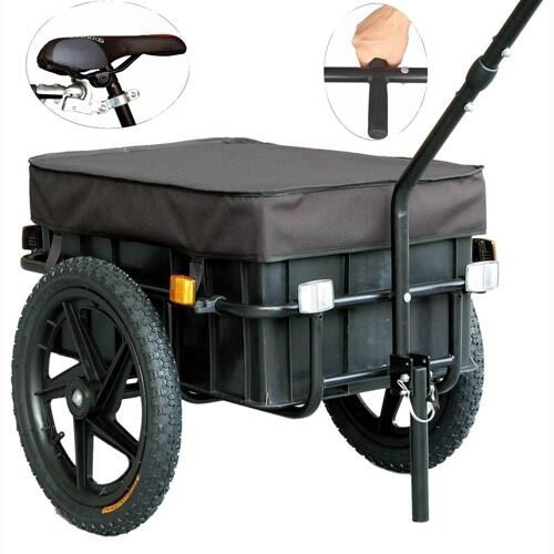 Bicycle Cargo Trailer Hand Cart Hand Trolly Shopping Trailer Bike Trailer