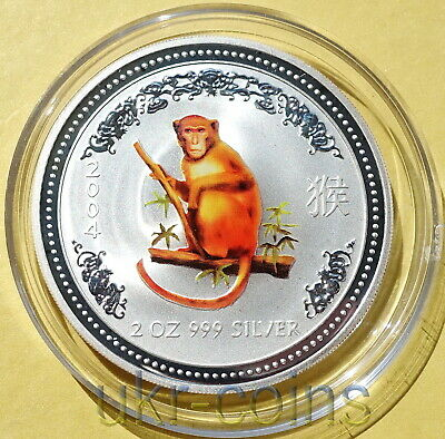 2004 Lunar Year of The Monkey 1oz Silver Proof Coin Australia Perth Mint