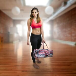 Yogi Path Yoga Mat and Gym Bag - Patterned Duffle Bag with Zipper ... 26efc31a70909