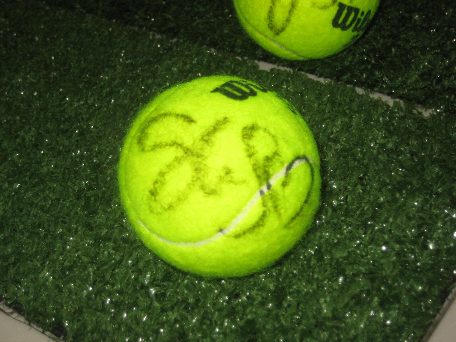 SLOANE STEPHENS HAND SIGNED TENNIS BALL UNFRAMED + PHOTO PROOF + C.O.A