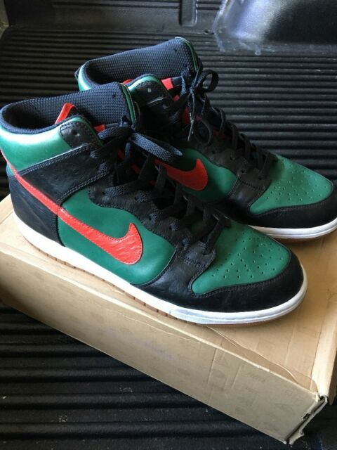 3402fc531abe0 Nike Dunk High Supreme Spark LE East Sz 13 DJ Clark Kent Black Red Green