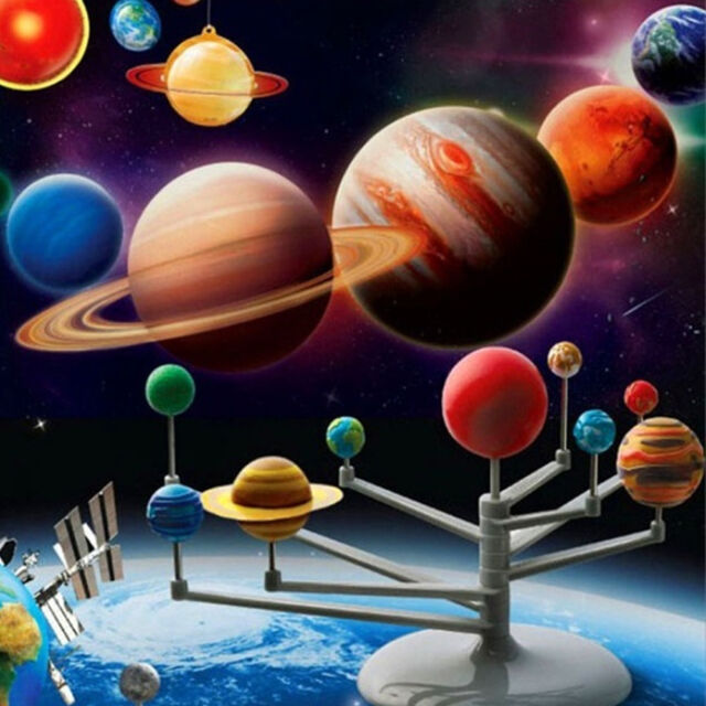 Solar System & Planetarium 3D Planets Model Toy for Children Child Kids
