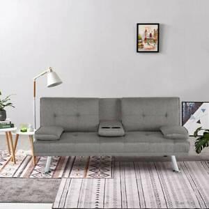 NEW SCANDI STYLE FABRIC GREY Modern Luxury Design 3 Seater ...