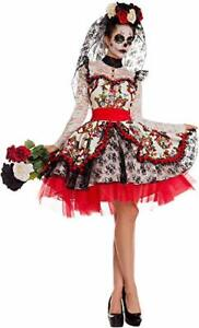 LA-NOVIA-Sugar-Skull-Cosplay-Dress-Costume-Size-SMALL-Dia-De-Los-Muertos