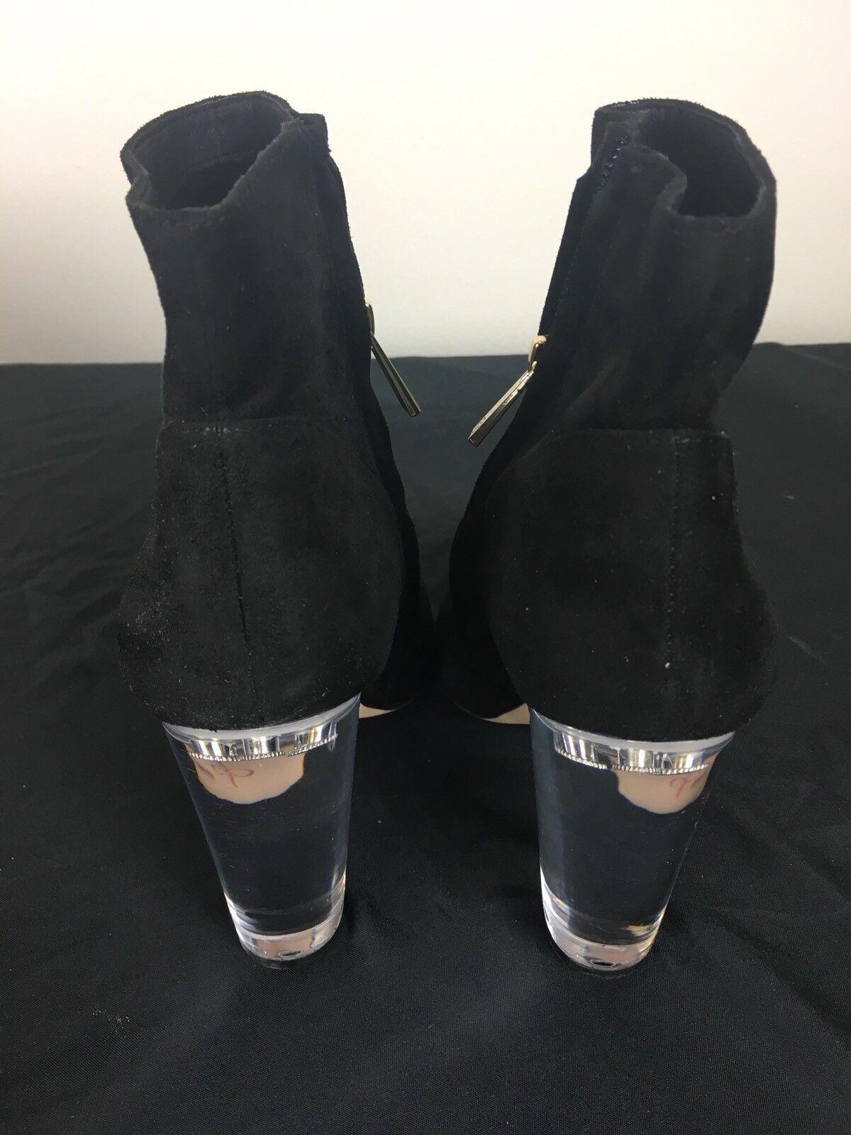 Nuevo En Caja Jessica Simpson para mujer Talla 7 Negro Negro Negro Tarek Lucite botaie precio minorista sugerido por el fabricante  139 c3b213