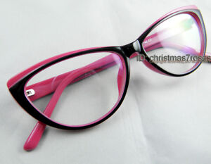 2023d6661c83 Women Vintage cat eye Eyeglass frame plastic 54-14-142 clear lens ...