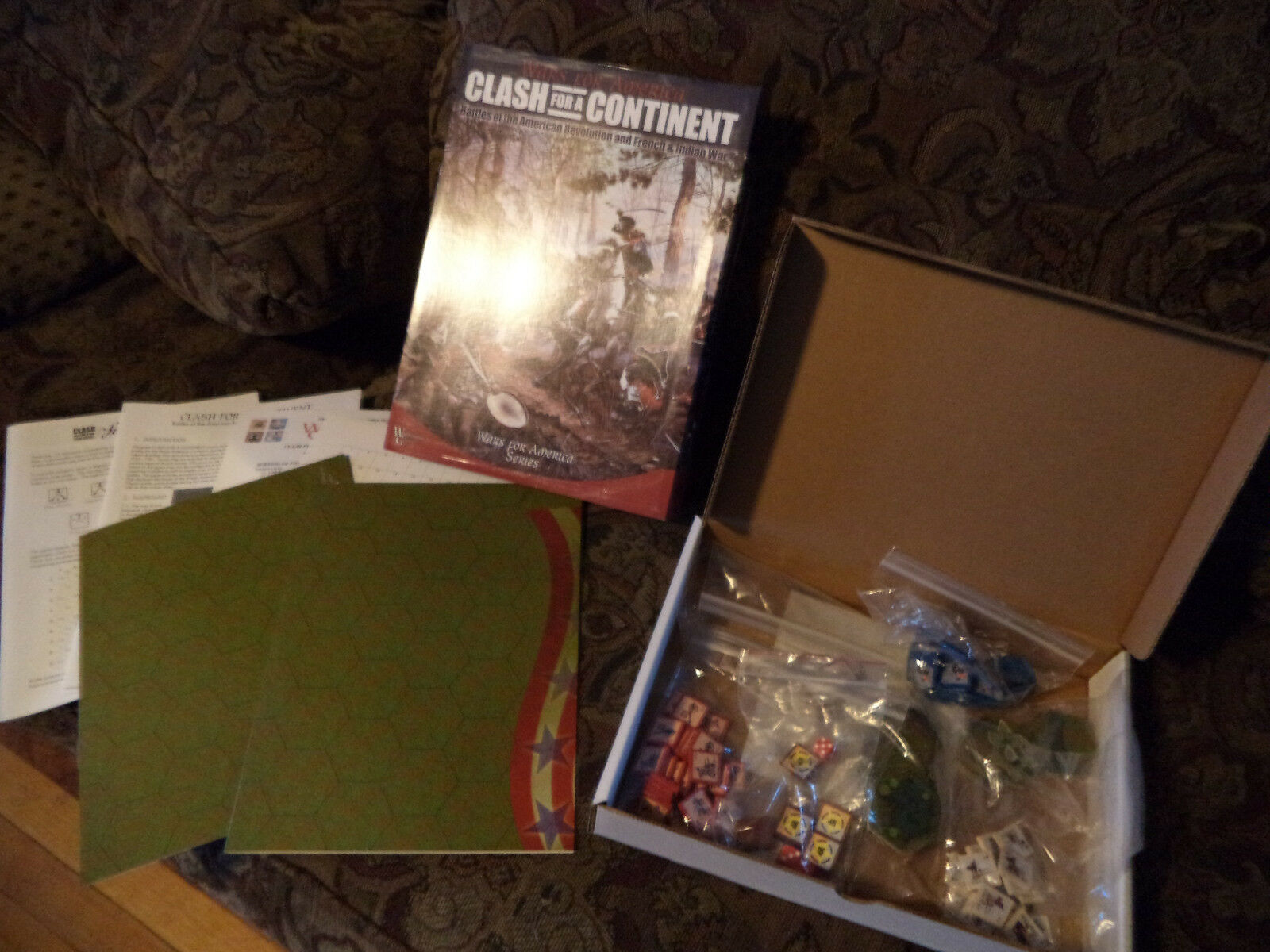 Clash For A Continent - Worthington Games Board Game French & Indian Wars