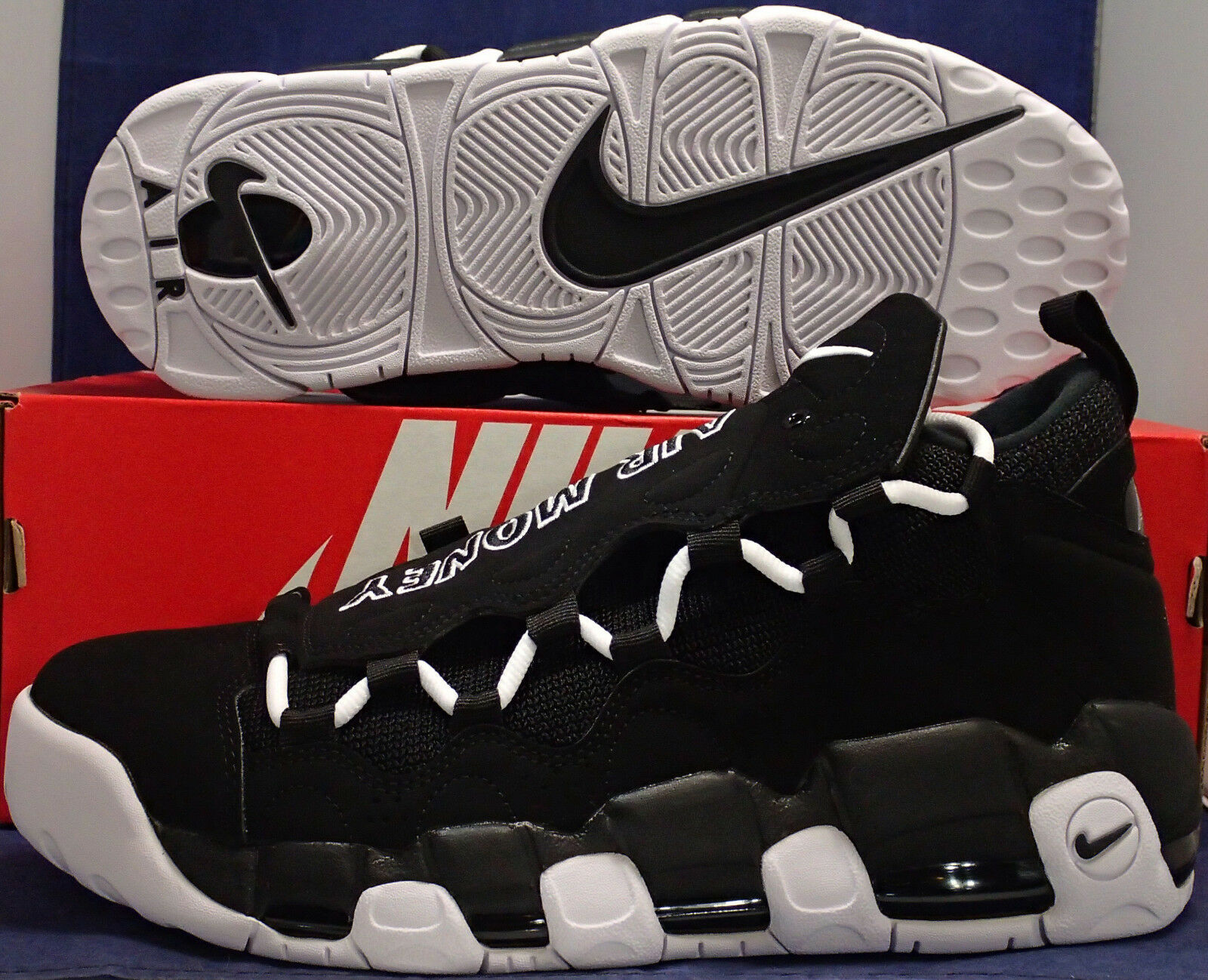Nike Air More Money Noir Blanc Max Uptempo SZ 9 ( AJ2998-001 )