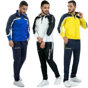 Tuta-da-uomo-GIVOVA-sport-mod-europa-completo-sportivo-con-zip-tessuto-acetato
