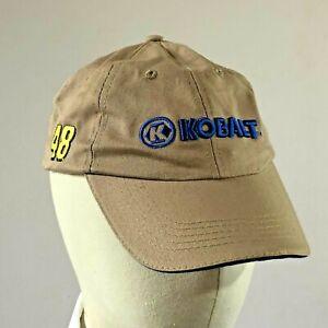 Kobalt Racing Team Lowes Hendricks Motorcross 48 Low Profile Strapback Hat Cap