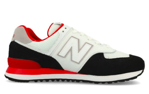 New-Para-hombre-ML574NSB-Zapatillas-Casual-Balance-Negro-Rojo