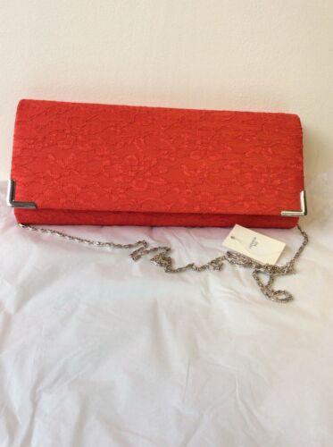 tracolla con catena Red Brand Clutch New Satin Lace d'argento OSxB8q