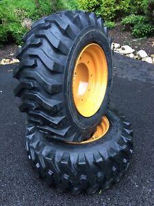 Details about 2 NEW 12-16 5 Tires/Wheels/Rim for 4X4 Case 580 Backhoe-Super  M & L 4WD-119243A1