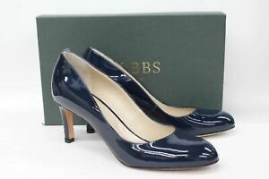 HOBBS-Ladies-Sophia-Midnight-Blue-Patent-Leather-Heeled-Court-Shoes-UK5-NEW