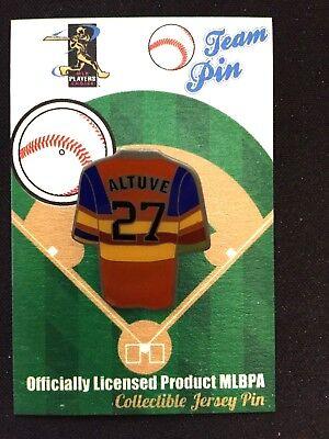 WunderschöNen Houston Astros Jose Altuve Revers Pin-one Of A Kind-stroh's Nation #1 Bestseller Professionelles Design Baseball & Softball Fanartikel