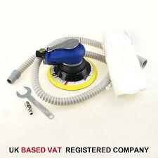 "Air Random Orbital Palm Sander 150mm 6"" Dual Action W Vacuum And Hose UK VAT"
