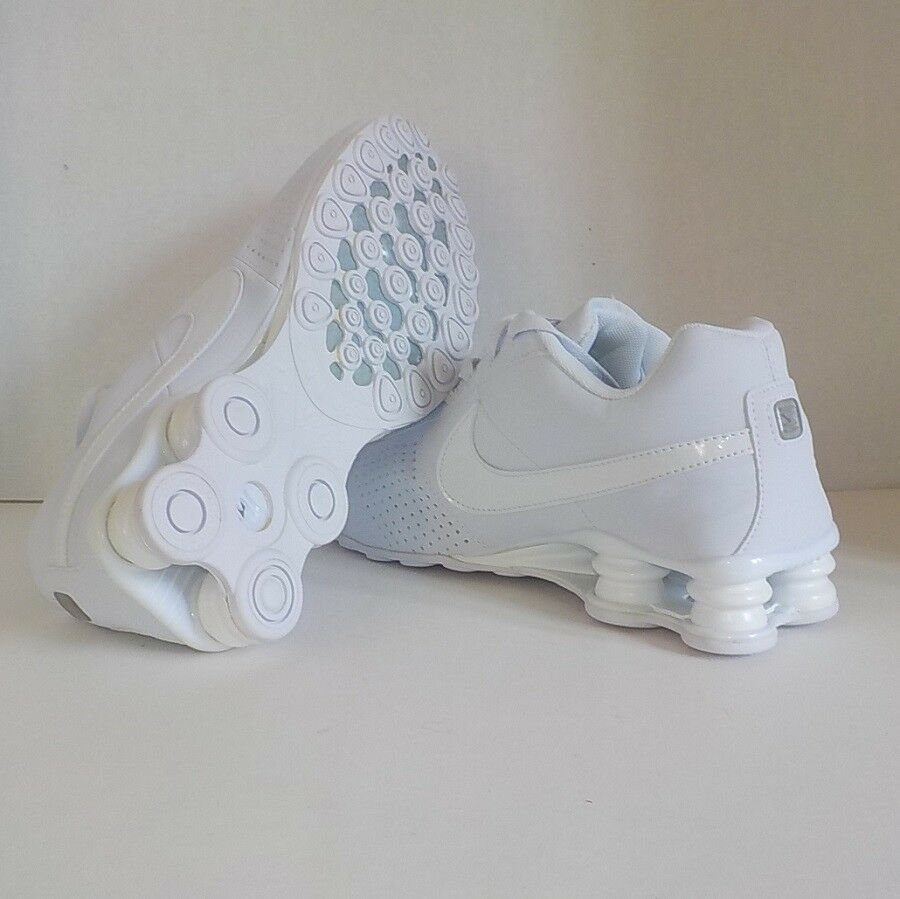 size 40 cfab9 7fce2 ... Nike SHOX DELIVER Running Shoes Shoes Shoes TRIPLE WHITE 317547 Men  Size 12 2f71f5 ...