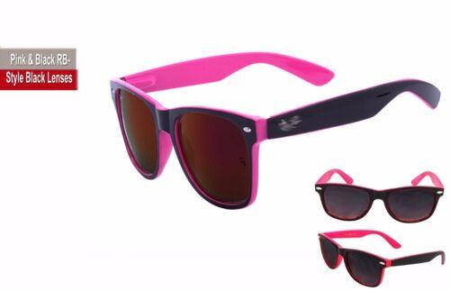 Ladies or Men Fashion Sunglasses Rose Gold Mirror /& 2-Tone Pink Blue Orange Aqua