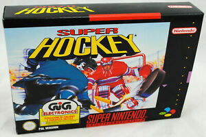 Jeu SUPER HOCKEY sur Super Nintendo SNES Neuf carton d'usine PAL NEW VGA ready