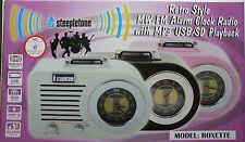 STEEPLETONE ROXETTE RETRO STYLE MW-FM MP3 USB-SD ALARM CLOCK RADIO- PINK