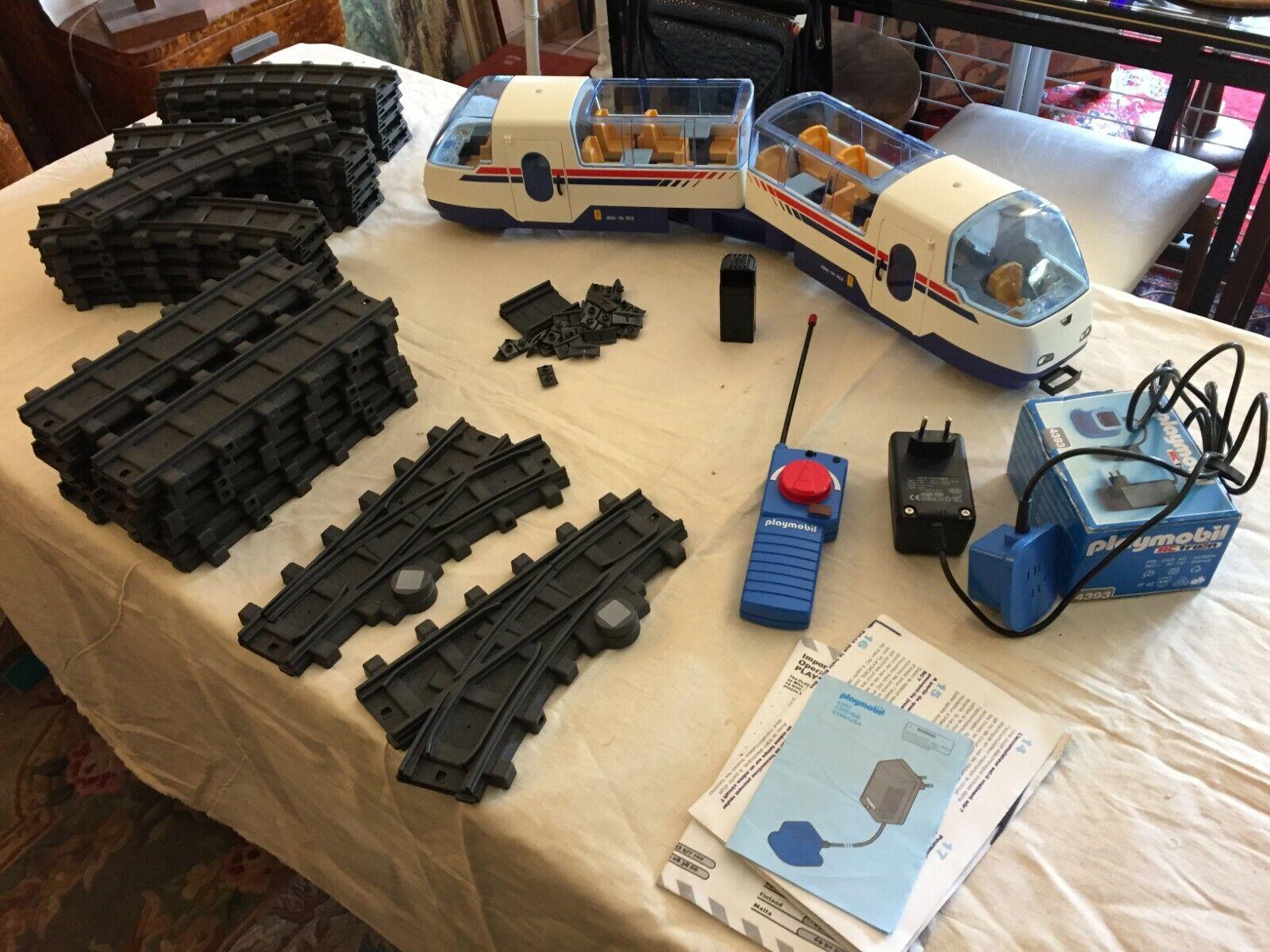 1  tgv 4016 train playmobil radio comuomodé + rails + accessoires  consegna diretta e rapida in fabbrica