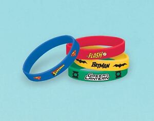 4pk-Justice-League-Caoutchouc-Bracelets-DC-Comic-Birthday-Party-Loot-Bag-Faveurs