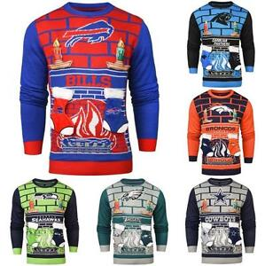 Nfl Ugly Mens 3d Holiday Christmas Sweater Pick Team Ebay