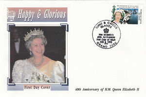 29218-Turks-amp-Caicos-FDC-Queen-40-Years-Accession-1992